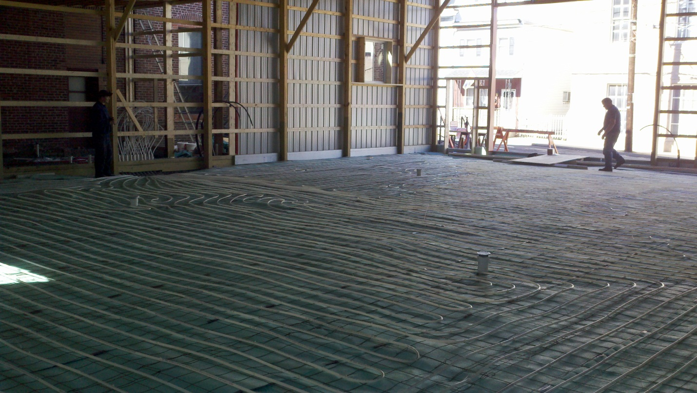 Radiant flooring ready for concrete